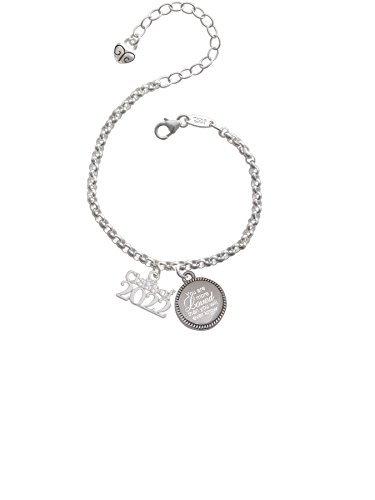 Delight Jewelry Class of 2022 You are More Loved Than You Will Ever Know Engraved Bracelet