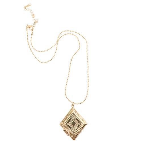 Colcolo Collar de 2 Piezas Joyas de Acero Inoxidable Collar con Colgante Chapado en Oro