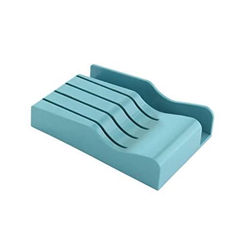 Organizador de cajones de Bloques de Tabla de Cortar de Cuchillos Solamente, Caja de Estuche de Cuchillos vacía sin Cuchillos Diseño Que Ahorra Espacio Almacenamiento de plástico