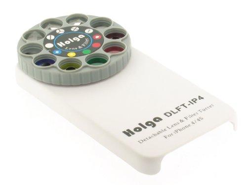 Holga Objektiv abnehmbar und Filterrad DLFT-IP4 für iPhone 4/4S weiß