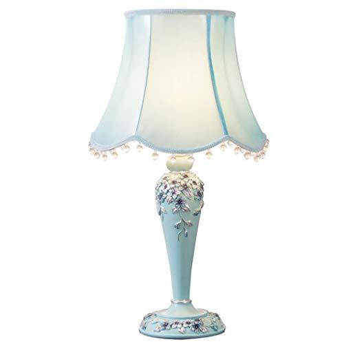 liushop Lámpara Escritorio Dormitorio, lámpara de Noche, Sala, Moderno, Creativo, Europeo, lámpara de Mesa, botón, Interruptor Lampara de Lectura (Size : S)