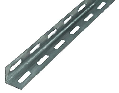 Cornière, modèle: perforé - acier brut, galvanisée à chaud, 1000 x 27 x 27 mm