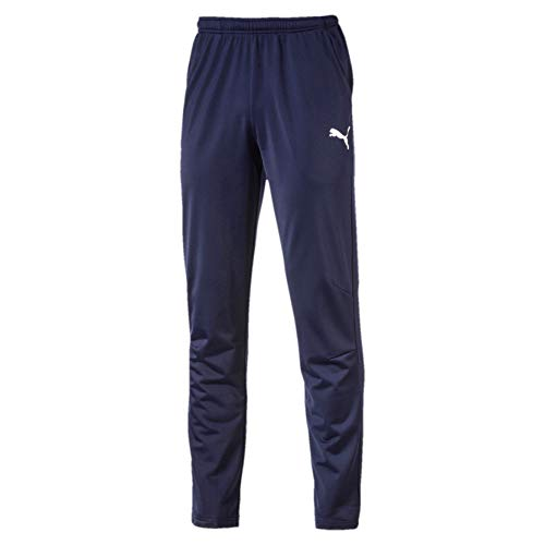 Puma Liga Training Pant Core, Pantaloni Uomo, Blu (Peacoat White), XL