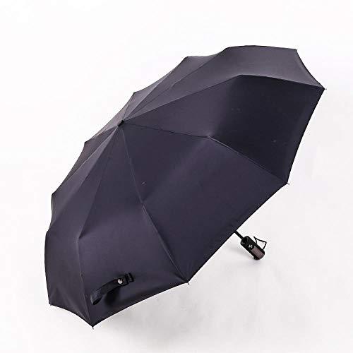 Roshow Schwarzer Kleber Automatischer selbst geöffneter Selbstverlassen ultravioletter Regenschirm Outdoor Sunshade-Regenschirm Werbe-Regenschirm-Logo-Zoll-schwarz_Durchmesser 104 cm.