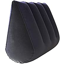 Inflatable Triangle Body Pillow Lumbar Pillow Yoga Pillow Bed Rest Pillow Travel Pillow Furniture Wedge Pillow Support Pillow Multifunctional Cushion Bedding Furniture