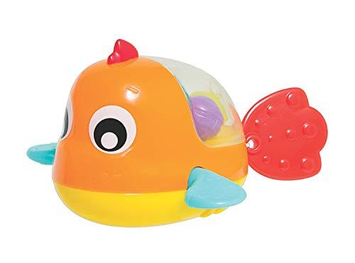 Playgro Badespielzeug Paddel-Fisch, Ab 12 Monaten, Farblich sortiert, BPA-frei, Orange/Gelb, 40181
