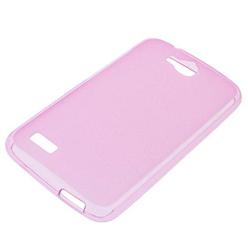 foto-kontor Tasche für Huawei Honor Holly Gummi TPU Schutz Hülle Handytasche pink - 5