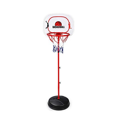 XINGLIAN Kind Basketballkorb Höhenverstellbar Kinder Basketbälle Ständer Set Mit Kugel Und Pumpe Drinnen Draußen Kinder Basketball Rack (Color : B)