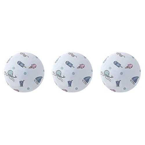 Cabilock 3 Stück Stehventilator Staubschutzhülle Turmventilatorabdeckung Waschbarer Musterdruck für Bodenventilator Runde Sockelventilator Schutzhülle (Flugzeugstil)