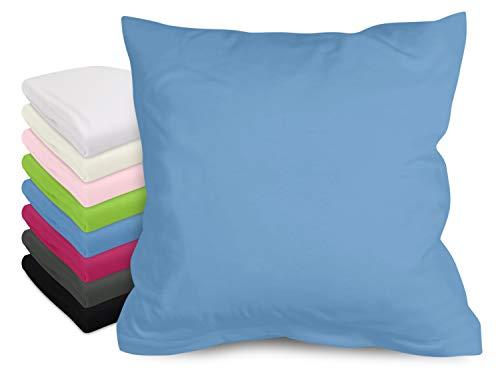 laken24 Spannbettlaken oder Kissenhüllen- feinste Baumwolle 827.1063, Kissenhülle 40 x 40 cm, jeansblau