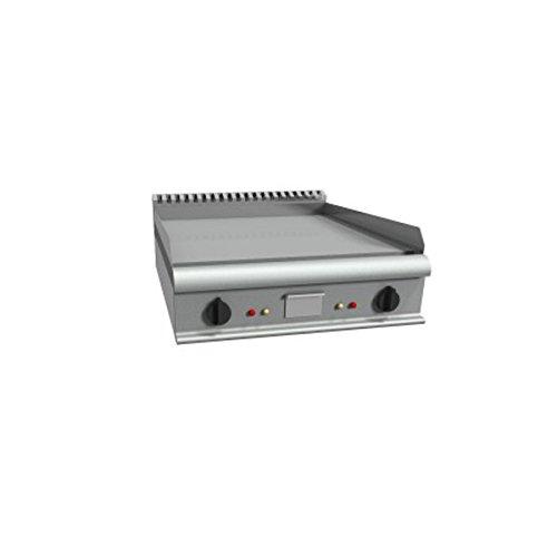 Fry Top électrique à meuler Plaque de cuisson lisse – Dim. CM 80 x 90 x 23H