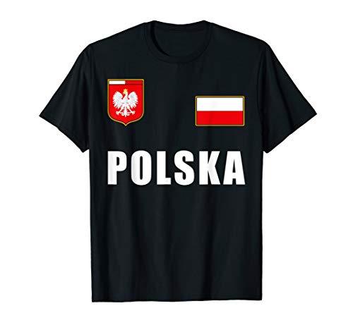 Polen Polska Polnisches Fußball Fan Outfit Trikot T-Shirt