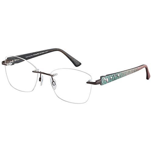 Change Me Brille rund 2620-2 mit Wechselbügel 8822-1 schwarz metallic rosa