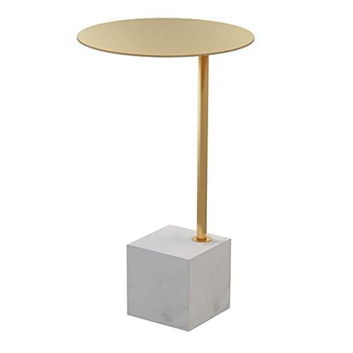 Strona główna D eacute; cor Furniture Golden Small End Tables Leisure Stolik kawowy do salonu Przedpokój, okrągły metalowy blat i marmurowa podstawa Salon lub salon