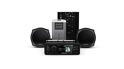 Rockford Fosgate HD9813SG-STAGE2 Digital Media Receiver, Two Speakers & Amplifier Kit for 1998-2013 Harley-Davidson Street Glide