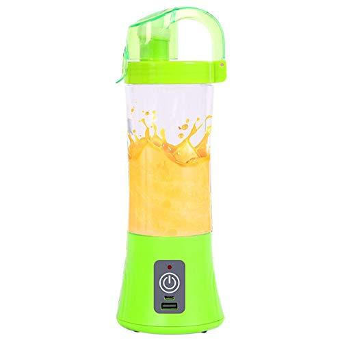 LITINGT Juicer 450ml Licuadora portátil USB Recargable Eléctrico Automático Vegetal Fruta Cítricos Jugo de Naranja Mezclador de Tazas Verde kshu (Color: Verde)