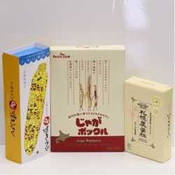 カルビー ポテトファーム じゃがポックル 1個&ヨシミ 札幌おかきOh!焼とうきび 1個 &きのとや 札幌農学校 1個