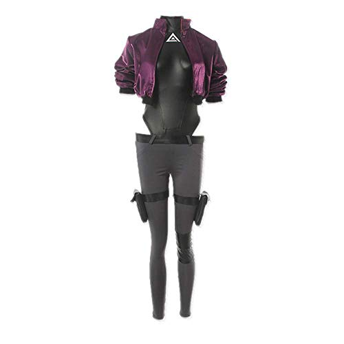 8PCSAnime Ghost In The Shell Kusanagi Motoko Cosplay Kostüm Outfit Neuheit Leder Jumpsuit Tägliche Uniform Anzüge für Mädchen Frauen Sexy Halloween Karneval