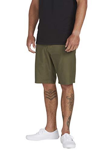 Volcom Riser Short Short pour Homme, Homme, Short, A0911901, Militaire, 36