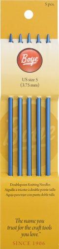Boye 7-Inch Aluminum Double Point Knitting Needles, Size 5