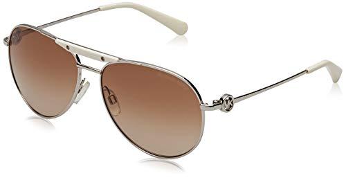 Michael Kors Damen Zanzibar MK5001 Sonnenbrille, Braun (silber-braun verlauf 100113), Large (Herstellergröße: 58)