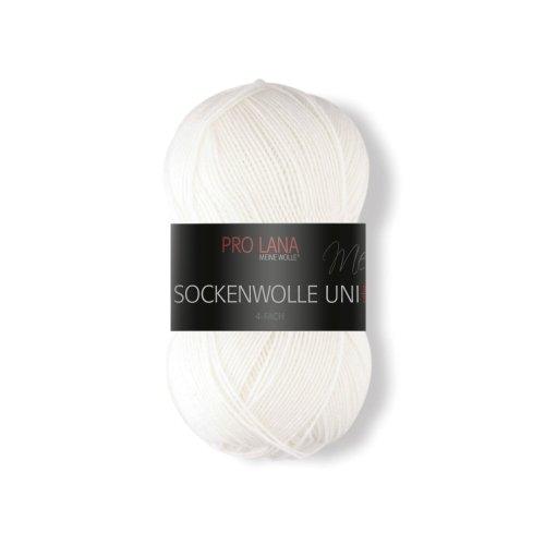 Prolana Sockenwolle 4 Fach, weiß, 420 m / 100 g