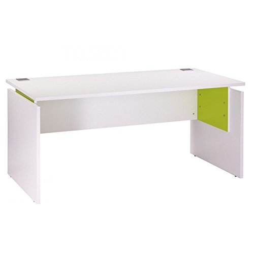 SIMMOB Bureau Ineo 160 x 80 cm Blanc Anis Réglable en Hauteur