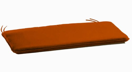 Arketicom 2 Coussins De Chaise et banquets Rectangulaire avec 2 Lacets en Mixte Coton Couleur Orange 30x90x3 cm