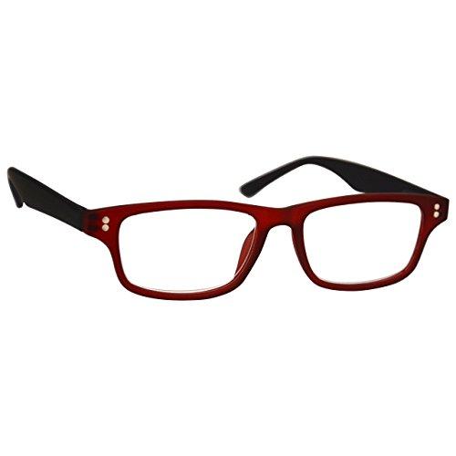 UV Reader UV Reader Gummiertes Rot Schwarz Kurzsichtig Fernbrille Für Kurzsichtigkeit Herren Frauen UVMR033 -1,00