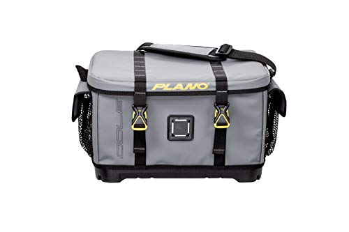 tackle bags 2 Plano Z-Series 3700 Tackle Bag | Premium Fishing and Tackle Storage with Waterproof Molded and Non-Slip Base | Includes Two Stowaway Tackle Boxes, Gray