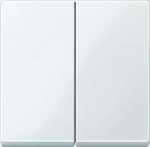 Merten 432519 System M - Interruptor basculante, color blanco brillante blanco Blanco polar. 3x Wippe für Serienschalter