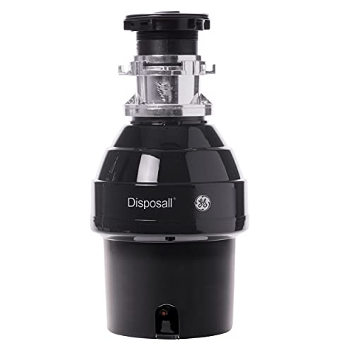 GE 3/4 HP 2700 RPM Batch Feed Garbage Disposer, Non-Corded with 34 oz Grind Capacity, Black, GFB760N