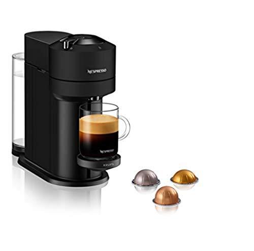 Krups Vertuo Next Espresso-Maschine, Nespresso Kaffeemaschine, 5 Größen von Tassen, 1,1 l, Kaffee, Filter, Espresso, große Tasse, frisch gemahlener Kaffee, langer Nespresso Gran Lungo YY4606FD