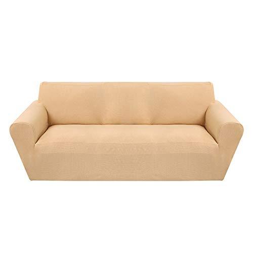 KTUCN Fundas de sofá, Modernas Fundas de sofá de Jacquard para Sala de Estar, sillón, Fundas de sofá seccionales, sofá elástico elástico, Envoltura Ajustada, Amarillo Claro, A-B 90-140cm