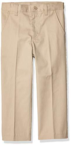 Classroom School Uniforms Girls' Big Flat Front Pants, Khaki, 8