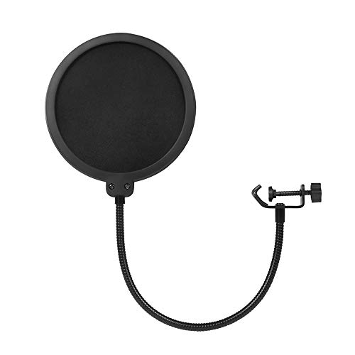 Gobesty Microfoon Filters, Studio Microphone Wind Screen Dual Layer Sound Shield Guard Voorruit met 360 graden Flexibele Zwanenhals voor Blauwe Sneeuwbal Blauw Yeti Rode Samson Logitech Btsky