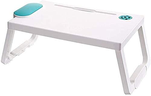 Bandeja plegable para teclados, escritorio pequeño plegable, mesa de dormitorio pequeña, mini escritorio portátil para ordenador de regazo perfecto para leer, trabajar, ver películas en la cama/sofá-A