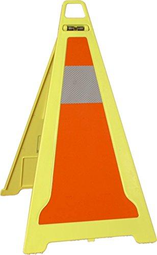 Cono plegable de señalización reflectante con asa y lastre opcional para accidentes,...