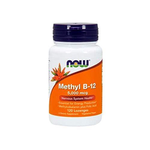 Now Foods Methyl B-12 with Folic Acid 120 lozenges, 0.055 kg
