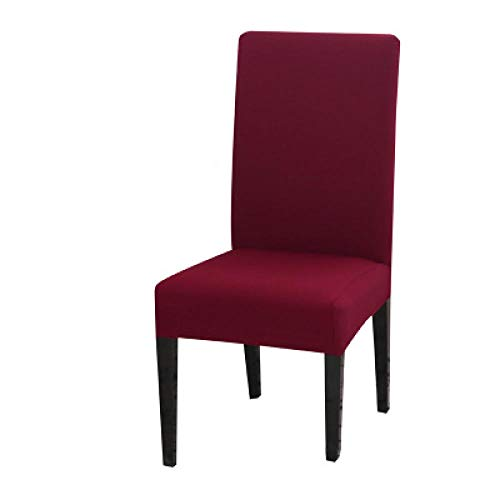 flqwe Stoel Beschermende Stoel Covers, Anti-vuile stretch stoel cover, effen kleur samengevoegd hotel restaurant,Stoel Meubelbescherming Covers