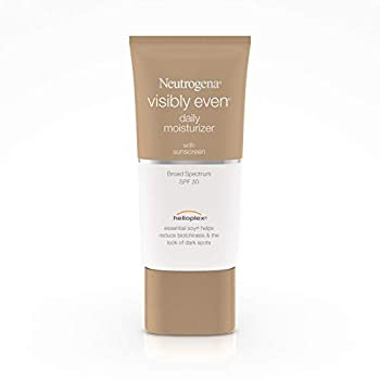 Neutrogena Visibly Even Daily Facial Moisturizer With Broad Spectrum SPF 30 Sunscreen Face Lotion with Soy for Skin Discoloration Dark Spots & Even Skin Tone Hypoallergenic 1.7 fl Oz