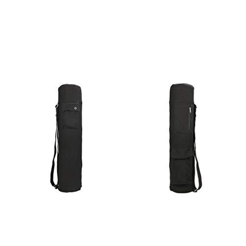 freneci 2Pcs Saco de Bolsas de Esterilla de Yoga para Ejercicio Grande Y Resistente con Múltiples Bolsillos Ajustables