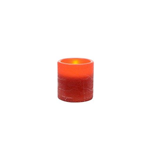 Kaemingk 482535 Batterij LED-kaars natuurlook, 7,5 x 7,5 cm, kerstrood