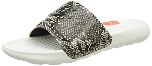 Nike Damen Victori One Slide Print Badepantolette, Desert Sand/Black-Summit White, 39 EU