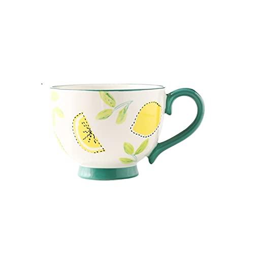 Cafe Mug Taza de cafe Juego de Tazas Taza de desayuno pintado a mano Taza de gran capacidad 16.9 Oz La taza de agua se puede usar para tomar leche y jugo de café, adecuado para la escuela de oficina y