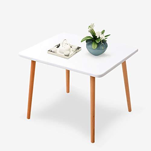 Saladplates-LXM Kleine rechteckige weißen Couchtische, moderner Stil mit Naturholz Legs Art Deco Eames for Home Office Lounge Esszimmer Küche
