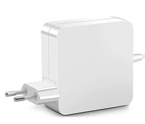 Alimentatore caricabatterie caricatore compatibile con Mac 13' (fino a metà 2012) A1344, A1181, A1184, A1278, A1330, A1435 con Connettore Magnetico'L' Style Output: 16,5V 3,65A 60W