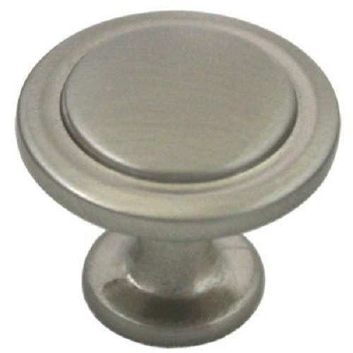 Cosmas 5560SN Satin Nickel Cabinet Hardware Round Knob - 1-1/4 Diameter - 10 Pack