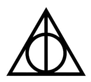 PLU Deathly Hallows Two Pack Black Decal Vinyl Sticker|Cars Trucks Vans Walls Laptop| Black |2.5 x 2 in|PLU935