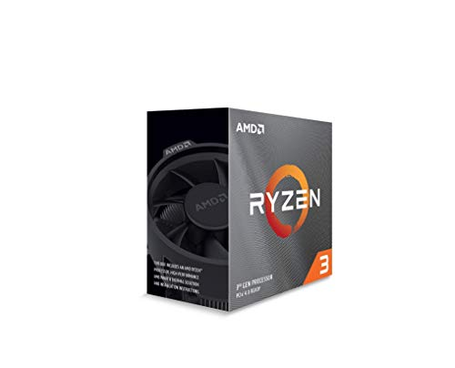 AMD Ryzen 3 3100, Basistaktrate: 3,68GHz, Max. Leistungstaktrate: bis zu 3.9GHz, AM4 100-100000284BOX